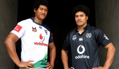 sam and sione lousi - nz warriors - sione right