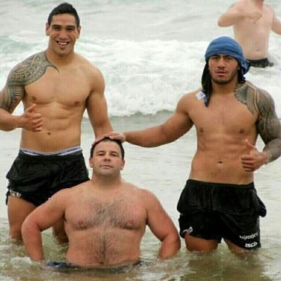 shirtless Jorge Taufua george rose and jesse sene lefao
