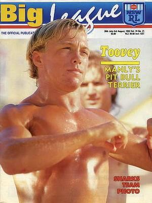 shirtless geoff tovey - cover boy for big league - 1993 issue