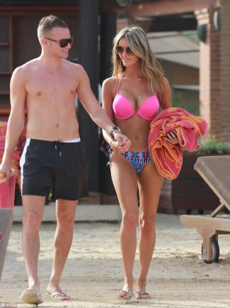 TOM CLEVERLEY shirtless with partner