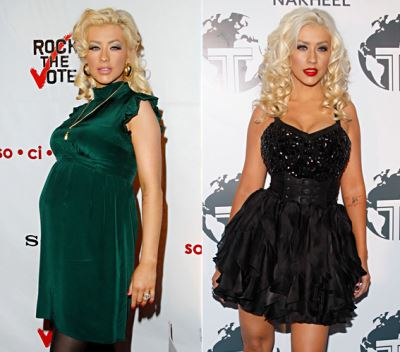 after pregnancy weight loss secrets - celebrity tips - christina aguilera