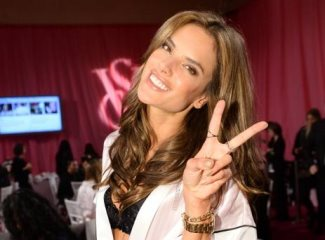 alessandra ambrosio after ear surgery