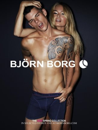 bjorn borg mens underwear model - Christopher Wetmore with klara wester spring summer 2012