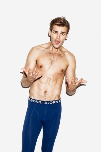 bjorn borg thermal underwear for men - male model