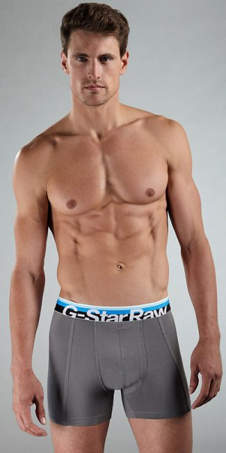g-star raw male underwear models - Ryan Bertroche - boxers
