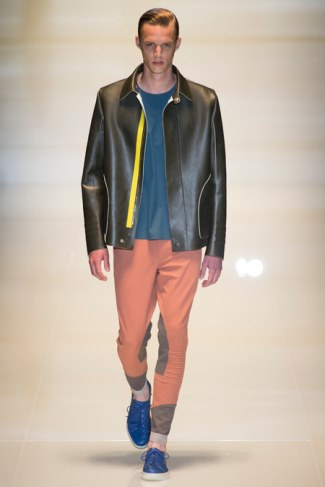 gucci leather jacket spring summer 2014 - menswear collection
