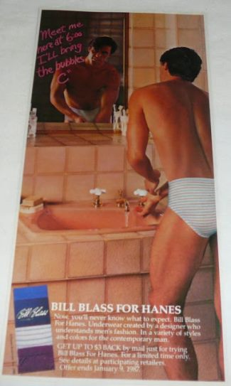 hanes male underwear models bill blass