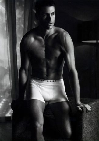 hugo boss male underwear model - tyson ballou