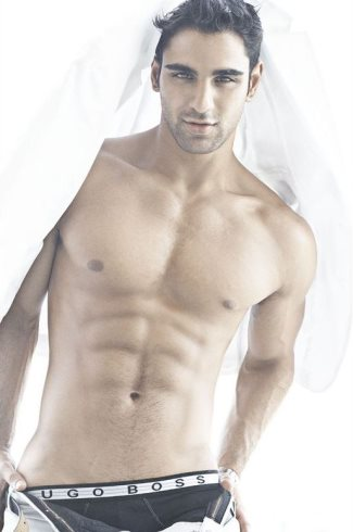 hugo boss underwear for men - model rishi idnani
