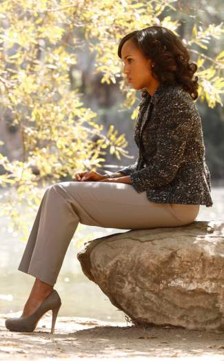 kerry washington olivia pope fashion - Akris Punto Jacket and Armani Pants