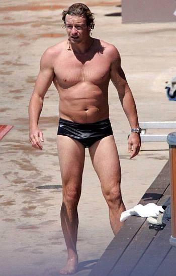 male celebrity speedo - simon baker
