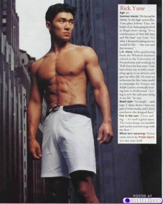 rick yune shirtless - asian hunks in hollywood
