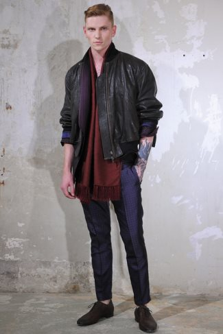 Haider Ackermann leather jacket - spring summer 2014 menswear collection