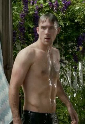 barry sloane wet in the shower