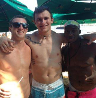 Johnny Manziel shirtless college quarterback