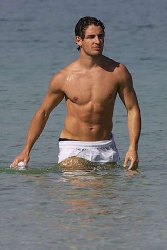 alexandre pato shirtless - wet shorts
