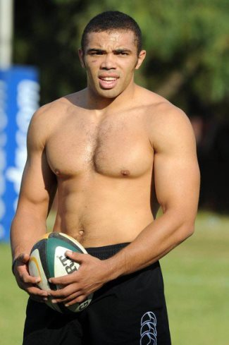 bryan habana shirtless - black rugby players - south africa