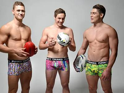 rugby underwear models - funky trunks - james o connor
