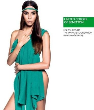 lea t - transgender model for united colors of benetton