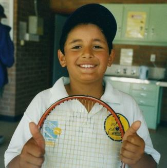 Nick Kyrgios chubby boy when young