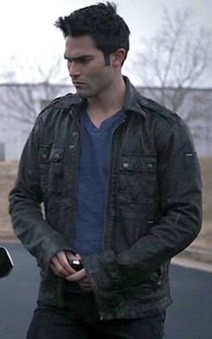 derek hale leather jacket - diesel loon lj - teen wolf