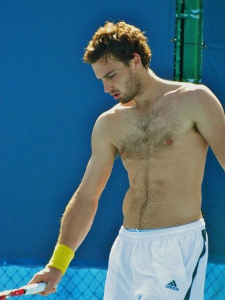ernests gulbis shirtless photo - bare chest is hairy