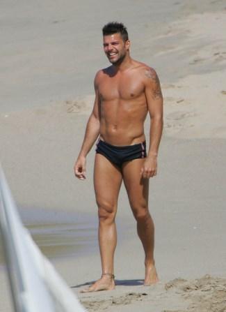 gay men speedo swimsuit - ricky martin - singer