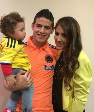 james rodriguez family - wife daniela ospina and son salome