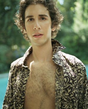 josh groban shirtless - open shirt