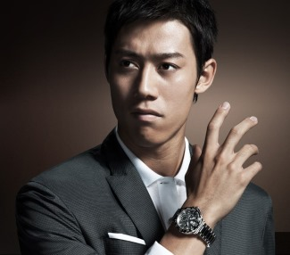 kei nishikori sexy tennis player from japan - watch endorsement