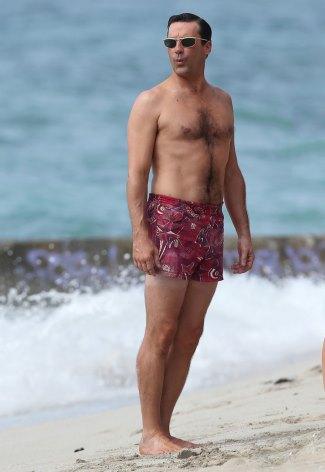 male celebrity short shorts -jon hamm don draper