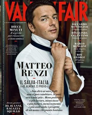 matteo renzi vanity fair cover