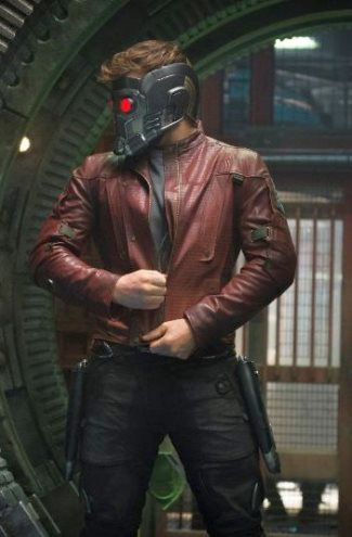 peter quill leather jacket - chris pratt in guardians of the galaxy