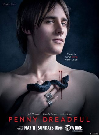 reeve carney no shirt as dorian gray