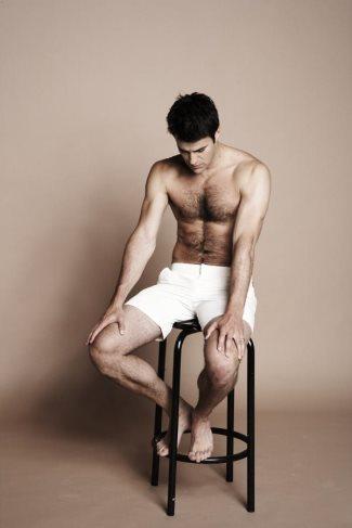 steve jones shirtless - hairy chest - attitude magazine
