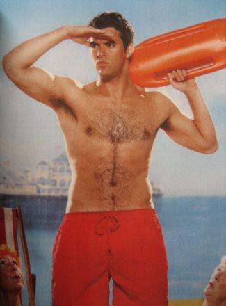 steve jones shirtless - speedo swimshorts