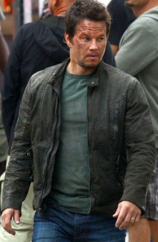transformers 4 mark wahlberg - leather jacket