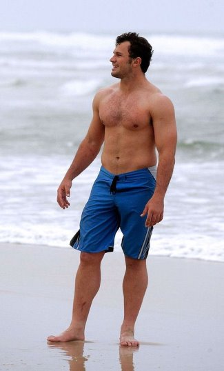 springboks shirtless rugby player Bismarck Du Plessis