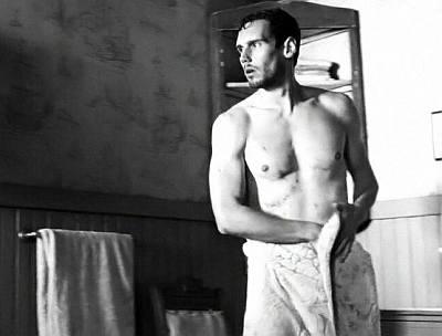 Cory Michael Smith shirtless in Olive Kitteridge