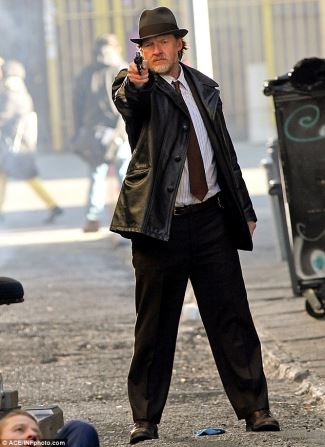 Harvey Bullock leather jacket on gotham