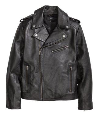 Leather biker jacket hm sale 99 gbp tp 55