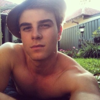 Nathaniel Buzolic - shirtless selfie - first with iphone