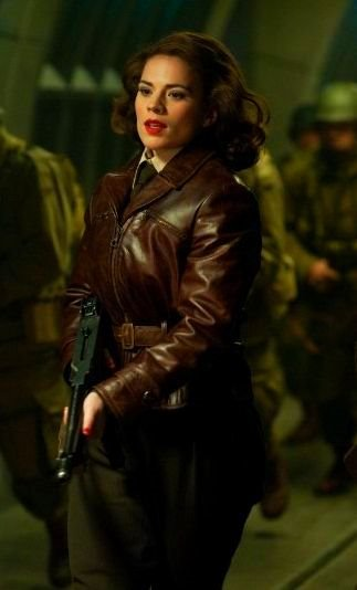 Peggy Carter haley atwell leather jacket