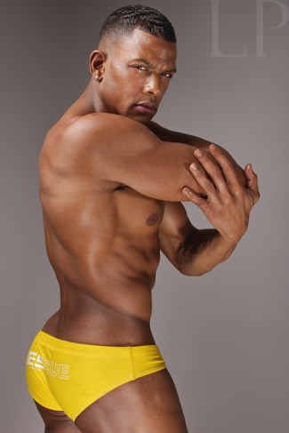 black men wearing speedo