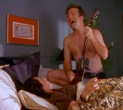 bob odenkirk underwear sighting - with jeanine garofalo - larry sanders show 1995