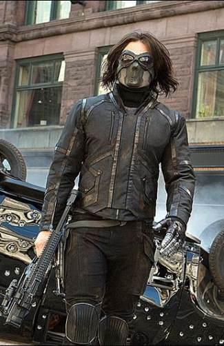 bucky barnes leather jacket - winter soldier