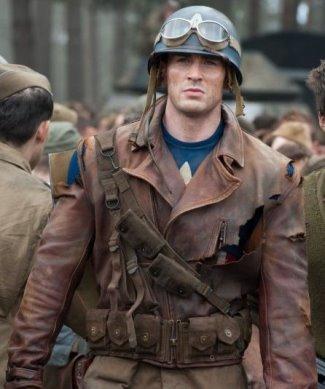 captain america steve rogers leather jacket - first avenger