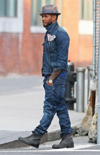 celebrity fedora hats - usher wearing Brixton Gain Fedora