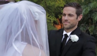 dylan bruce married - wedding photo