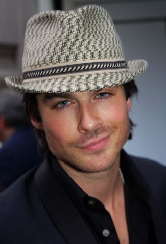 famous guys wearing fedora - Bailey Mannes Fedora on ian somerhalder